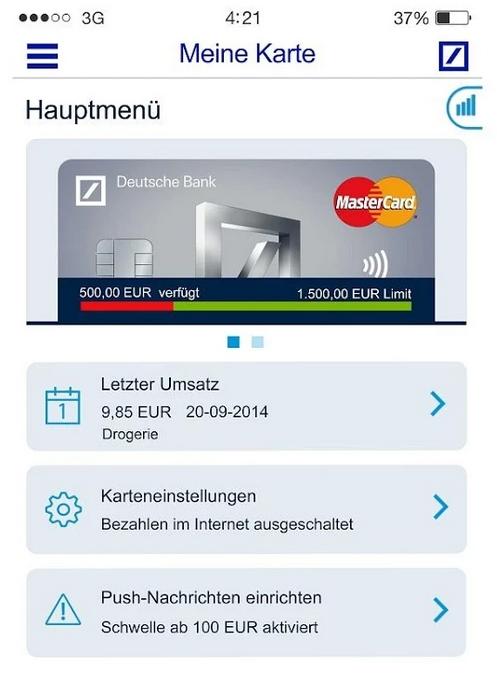 Klicken Sie auf die Grafik für eine größere Ansicht  Name:deutsche-bank-meine-karte-app.jpg Hits:2 Größe:75,7 KB ID:1010