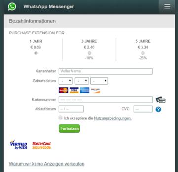 Klicken Sie auf die Grafik für eine größere Ansicht  Name:whatsapp-kreditkarten-betrug.png Hits:4 Größe:48,6 KB ID:1033