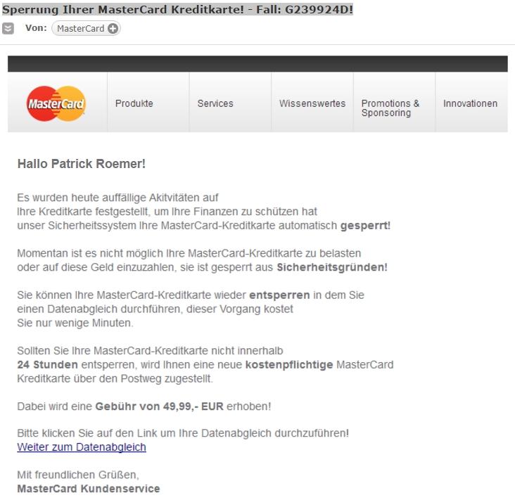 Klicken Sie auf die Grafik für eine größere Ansicht  Name:mastercard-email-spam-betrug.jpg Hits:1 Größe:88,0 KB ID:1050