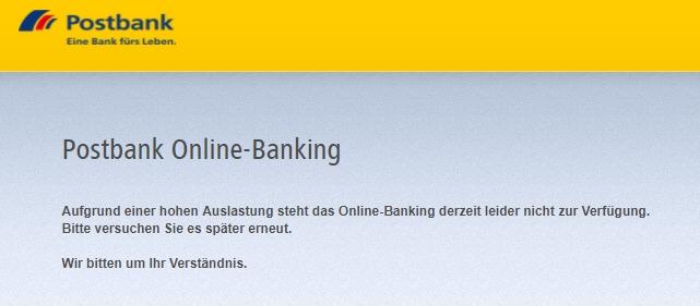Klicken Sie auf die Grafik für eine größere Ansicht  Name:postbank-online-banking-störung.jpg Hits:1 Größe:53,1 KB ID:1126