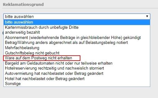 Kreditkartenzahlung ZurГјckbuchen