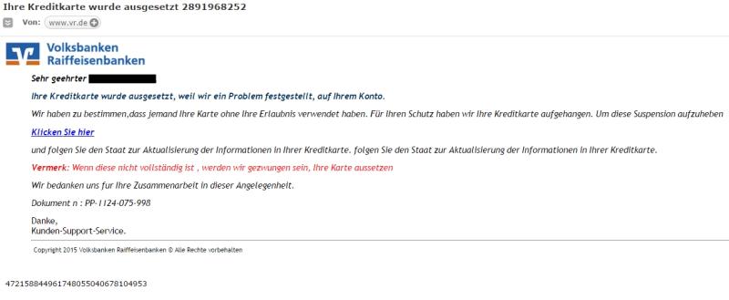 Klicken Sie auf die Grafik für eine größere Ansicht  Name:volksbank-spam-mail.jpg Hits:4 Größe:99,0 KB ID:999